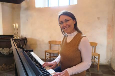 Rikke Bendixen takker af ved Marie Magdalene Kirke søndag aften.