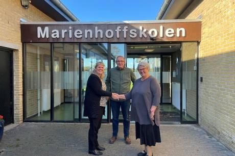 Efter godt 22 år har Marienhoffskolens trofaste og meget populære sekretær Else Friborg Andersen haft sidste arbejdsdag som skolens frontline.