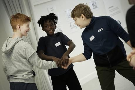 Billedet stammer fra et tidligere 'Ej Blot Til Lyst' forløb med Kragelundskolen. Foto Mikkel Christensen/ Aarhus Teater