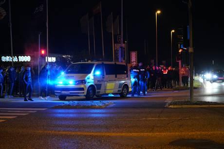Uheldet skete til biltræffet Cars and Coffee i Egå, manden slap dog kun med få knubs.