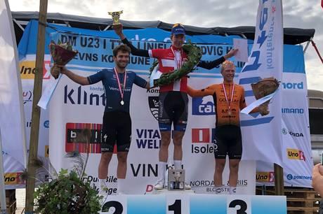 Søren Vosgerau endte på andenplads ved U23 DM i linjeløb.