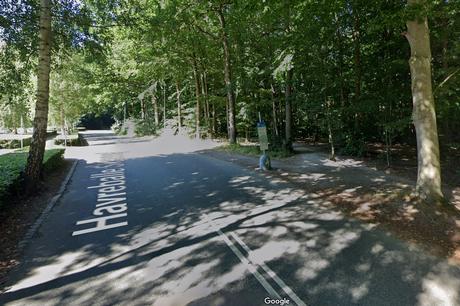Mange bilister fik i weekenden en parkeringsbøde på Havreballe Skovvej, da der var VM i badminton i Aarhus. Foto: Google Maps