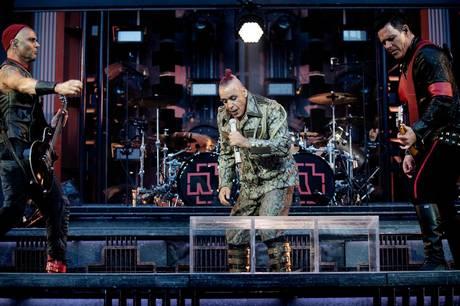 Sådan så det ud, da tyske Rammstein i 2019 gav koncert i Parken i København.