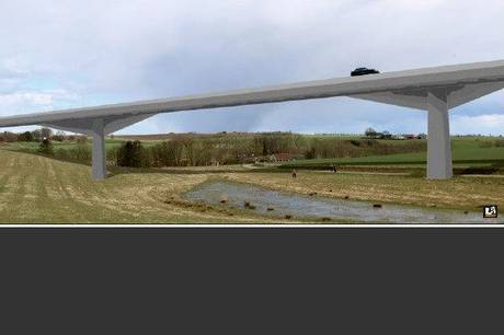 Visualisering af bro tæt ved Borum Eshøj.